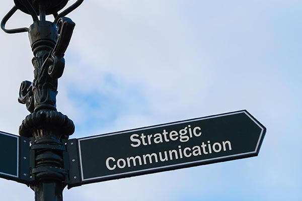 strategic communication planning street sign