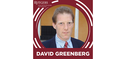 Greenberg has been named a recipient of a prestigious Cullman Fellowship from the Dorothy and Lewis B. Cullman Center for Scholars and Writers at the New York Public Library.