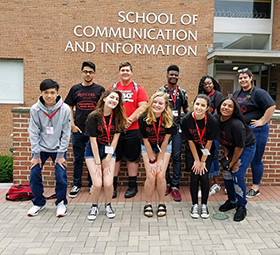 Boyd Journalism students at Rutgers School of Communication and Information