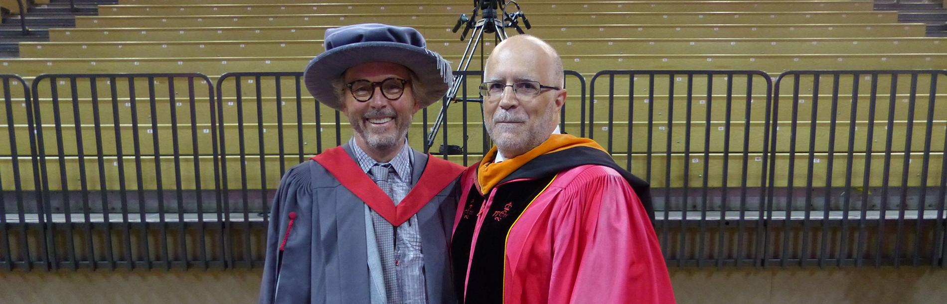 2018 convocation Jonathan Potter and Jon Oliver