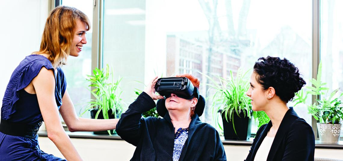 Ph.D. Alumna Lora Appel '16 Develops Innovative Research Study Using Virtual Reality to Aid Dementia Patients