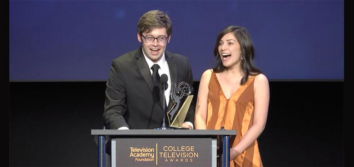 "Zack Morrison '14 Wins First Place in the 39th College Television Awards Comedy Series for ""Everything's Fine: A Panic Attack in D Major"""