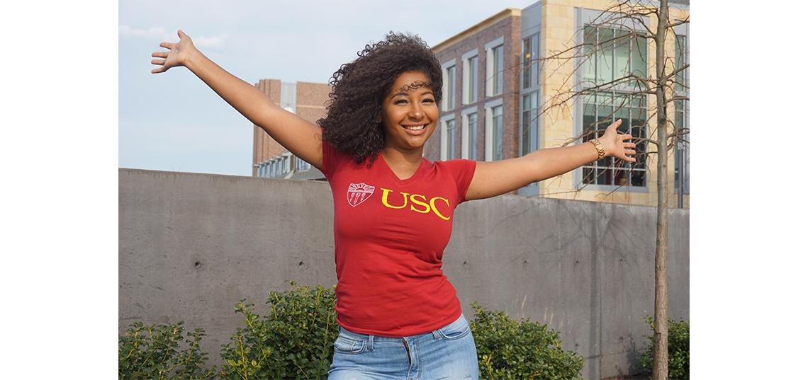 Kyrah Arthur, a communication major who graduated in May 2019, discusses her next steps as she pursues a master's degree at the Annenberg School of Communication at the University of Southern California.